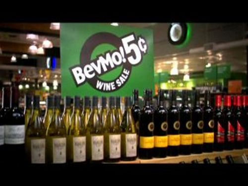 A lot of customers in the BevMo store I went to were there for the semi-regular 5-cent wine sale, where you buy one bottle and get another of the same bottle for a nickel. In times past, I would have gone bonkers for the wine sale and loaded up a basket with 6 or 8 bottles.